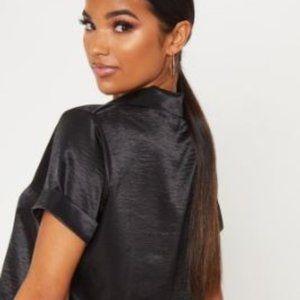 Bebe black blouse